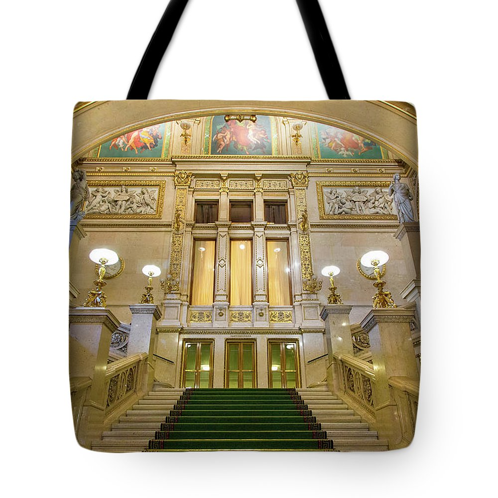 History Tote Bag featuring the photograph Vienna Opera House, The Main Hall by Sylvain Sonnet