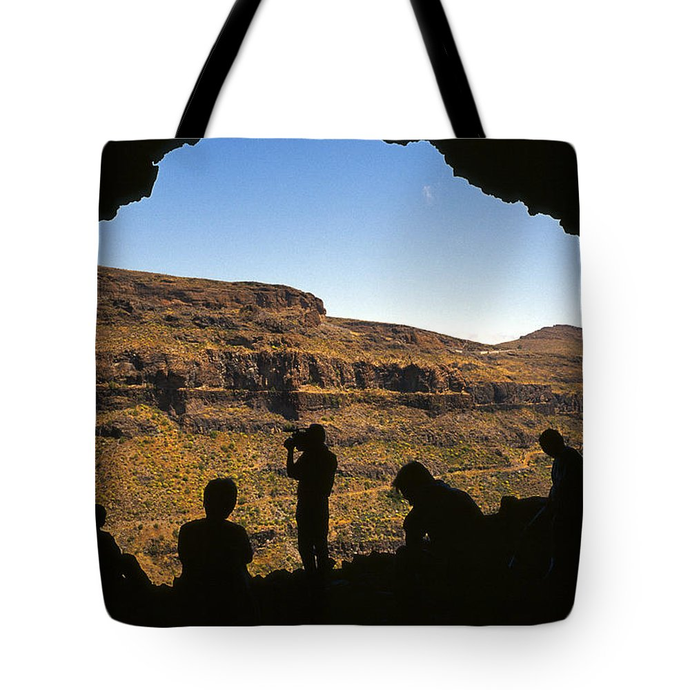 Canary Islands Tote Bag featuring the photograph View From Cueva Del Rey, Tejeda by James Lamb