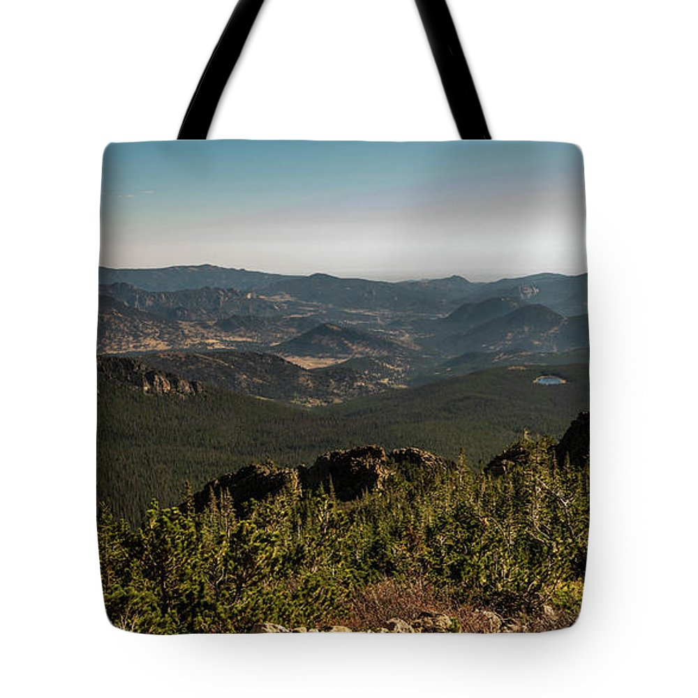 Tree Tote Bag featuring the photograph View From Flattop Mountain Trail by Michael Putthoff