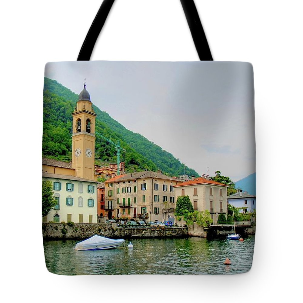 Part Of A Series Tote Bag featuring the photograph View From Laglio On Lake Como by Cranjam
