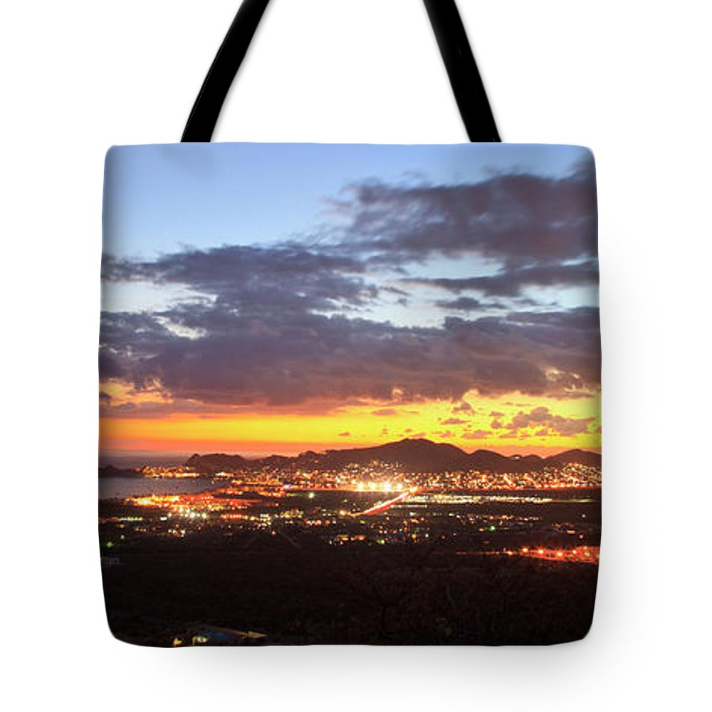 Tranquility Tote Bag featuring the photograph View Of Cabo San Lucas At Sunset by Stuart Westmorland / Design Pics