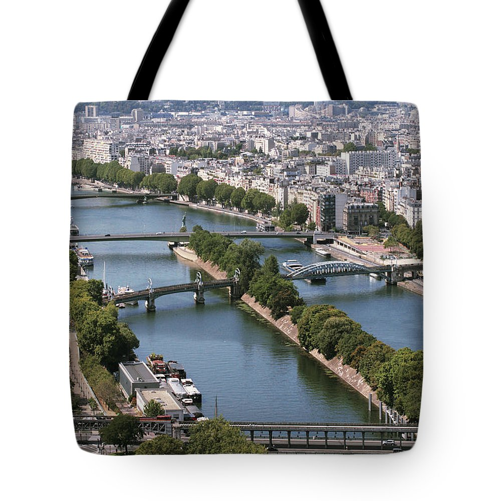 Paris Tote Bag featuring the digital art View Of Paris by Cambion Art