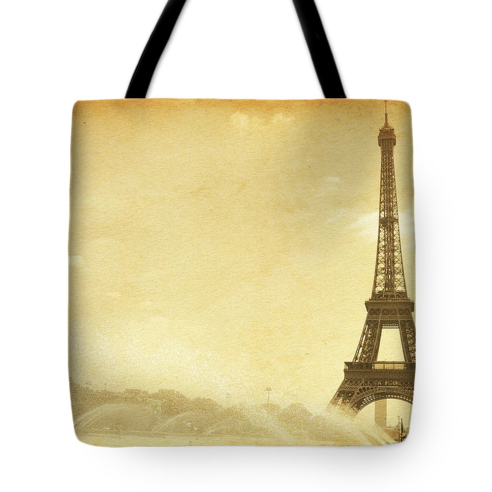 Stained Tote Bag featuring the photograph Vintage Eiffel Tower by Nic taylor