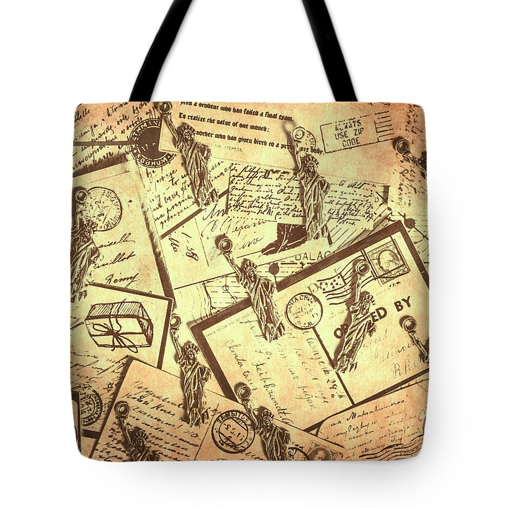 Postcard Tote Bag featuring the photograph Vintage New York Post by Jorgo Photography - Wall Art Gallery