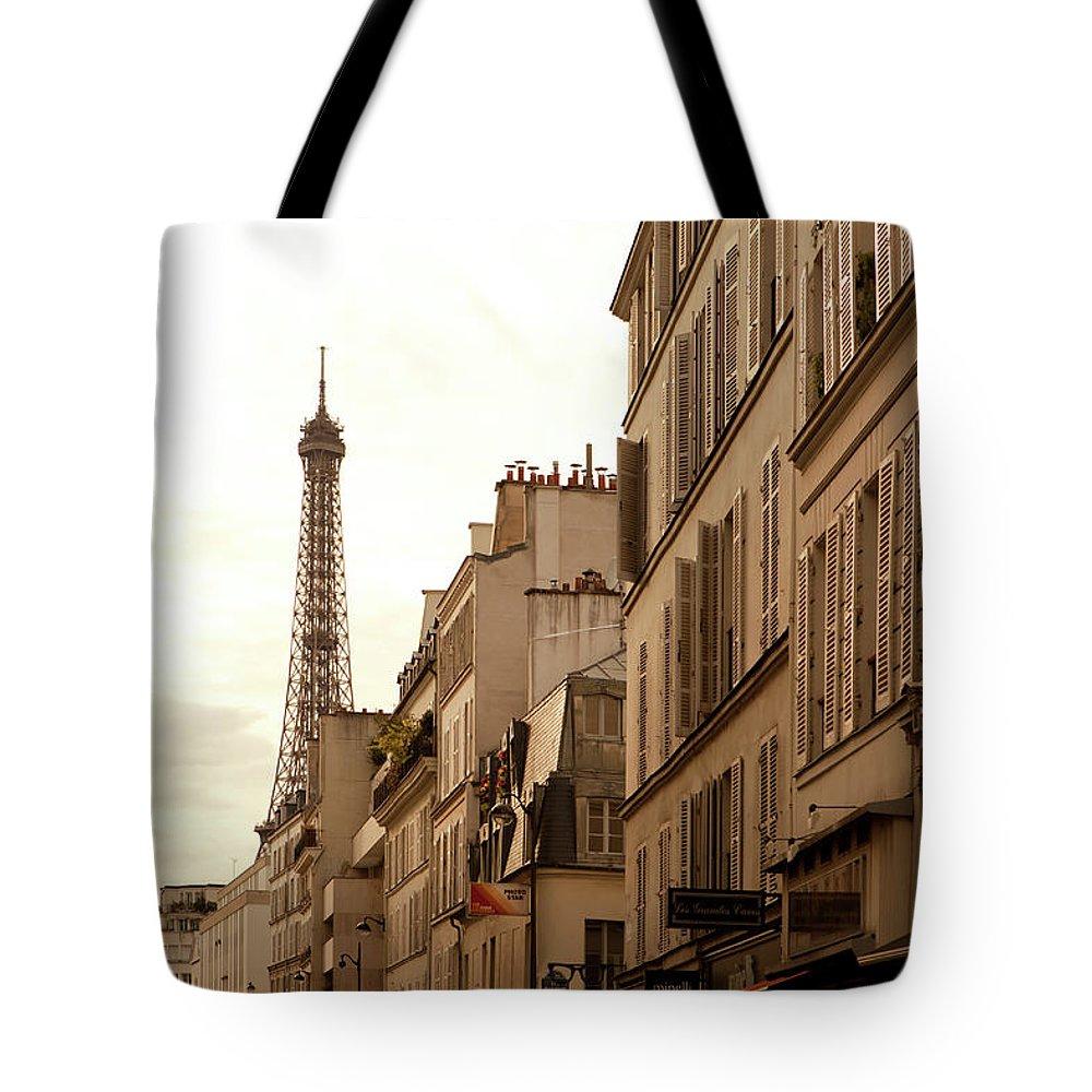 Apartment Tote Bag featuring the photograph Vintage Paris by Marcaux
