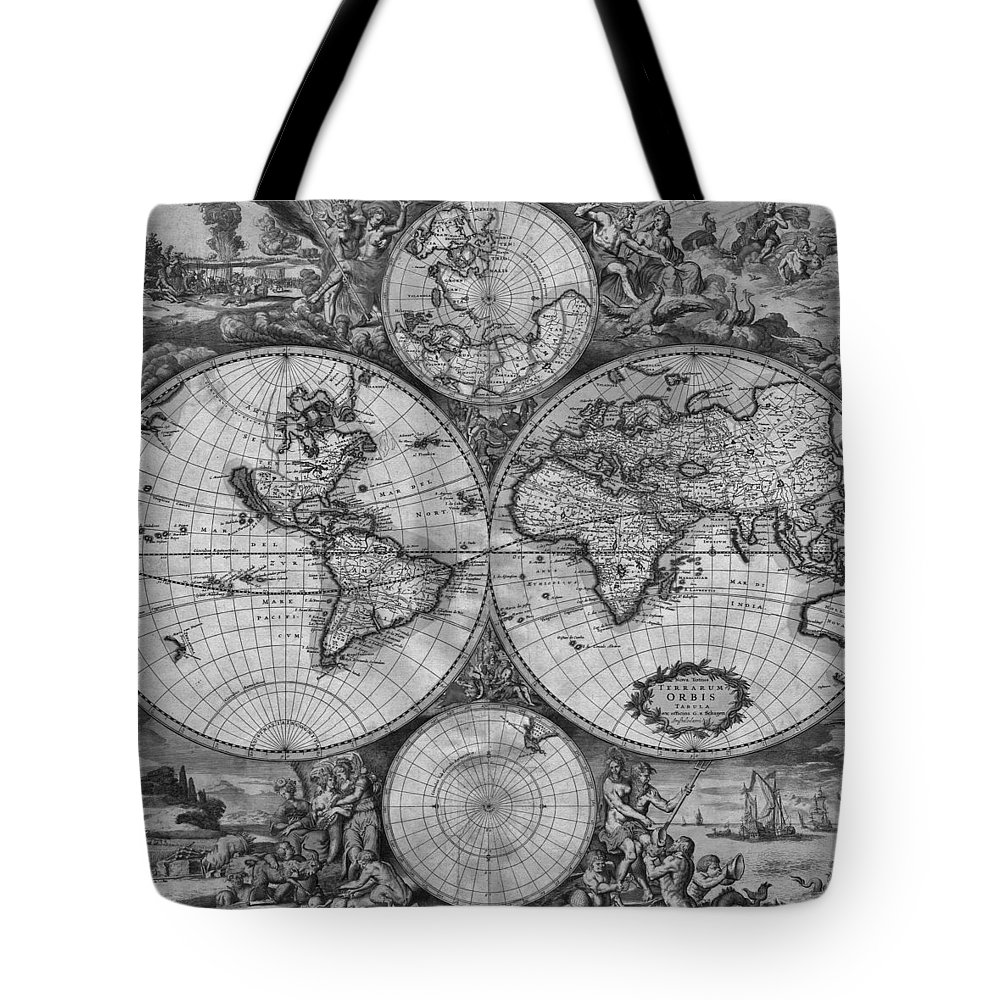 Grayscale Drawings Tote Bags