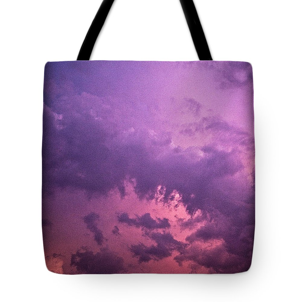 Scenics Tote Bag featuring the photograph Violet Sky by Richard Newton / Daddynewt