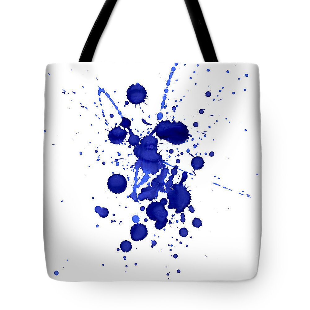 Watercolor Painting Tote Bag featuring the photograph Violet Splashes by Alenchi