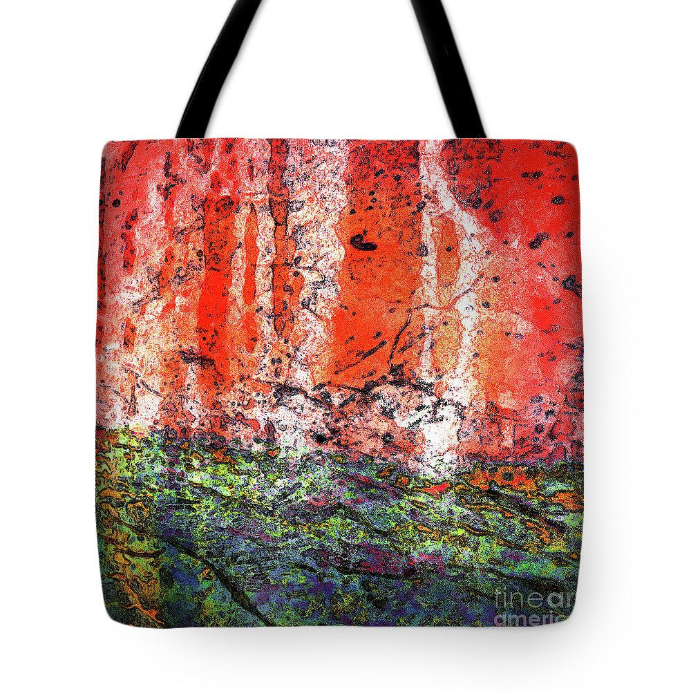 Abstract Tote Bag featuring the photograph Vulcanic Experience by Margaret Koc