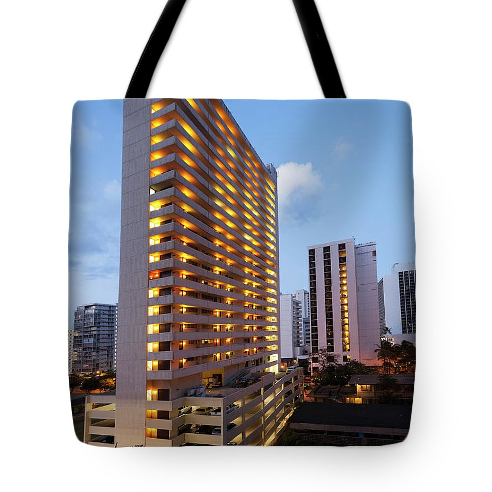 Honolulu Tote Bag featuring the photograph Waikiki Morning by Slobo
