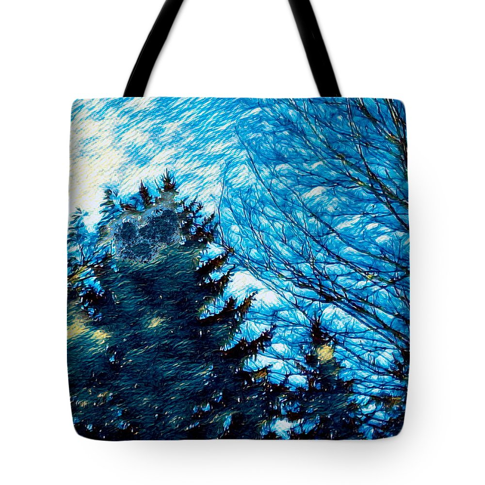 Trees Tote Bag featuring the photograph Waiting For October by Abstract Angel Artist Stephen K