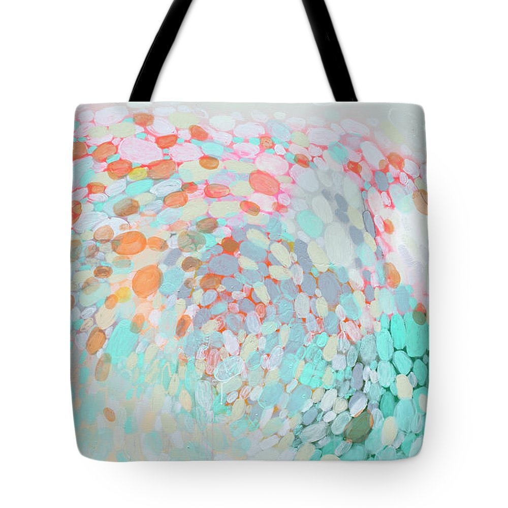 Abstract Tote Bag featuring the painting Want To Go by Claire Desjardins
