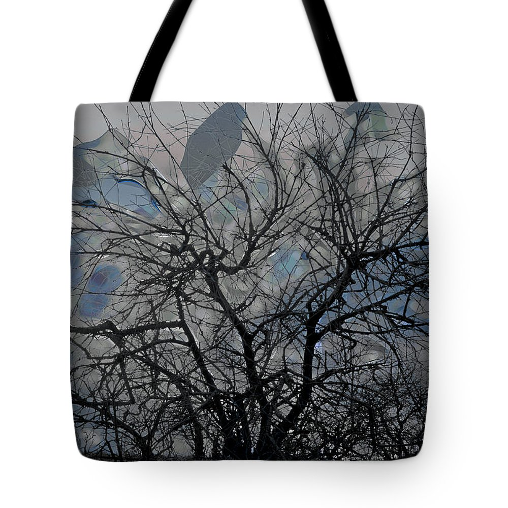 Tree Tote Bag featuring the digital art Wasteway Willow 04 by Bruce Whitaker