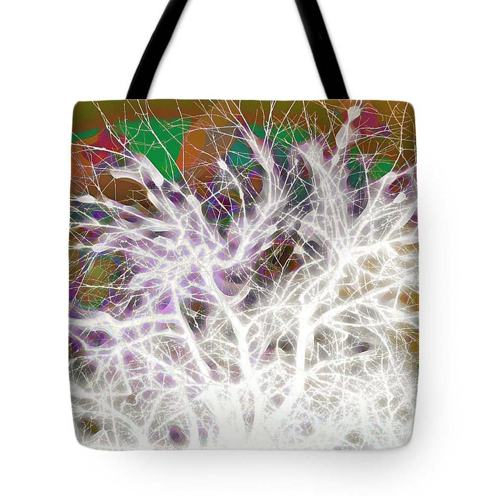 Tree Tote Bag featuring the digital art Wasteway Willow 05 by Bruce Whitaker