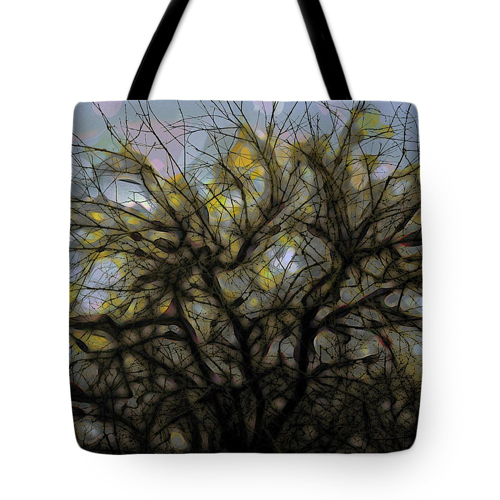 Tree Tote Bag featuring the digital art Wasteway Willow 11 by Bruce Whitaker