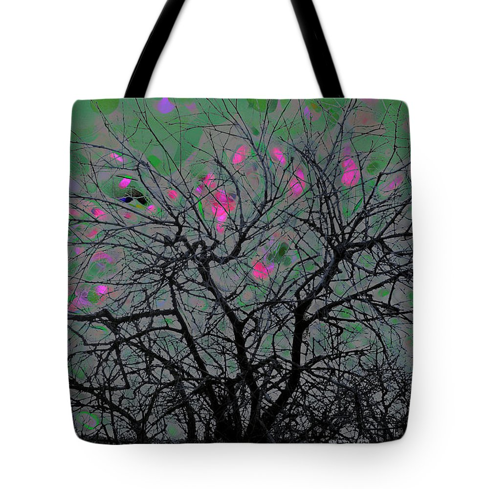 Tree Tote Bag featuring the digital art Wasteway Willow 17 by Bruce Whitaker