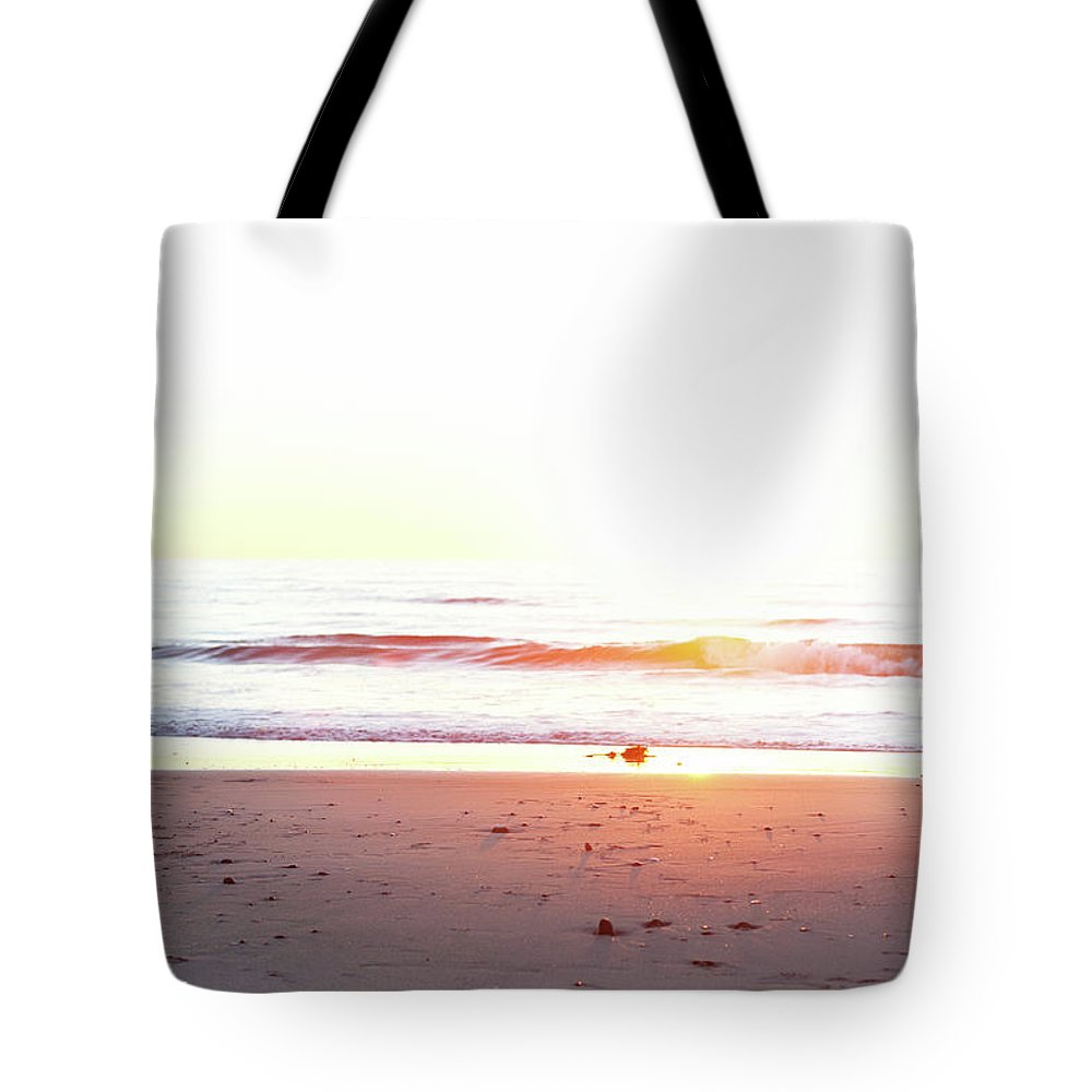 Pole Tote Bag featuring the photograph Watching The Waves by Ianmcdonnell