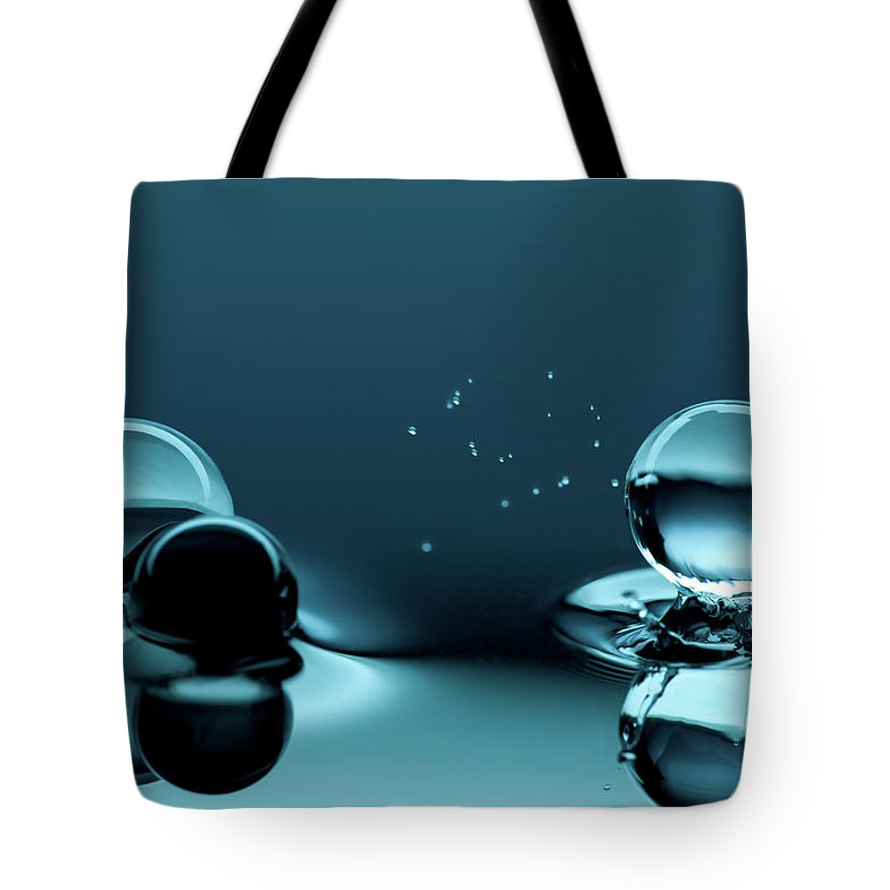 Atlanta Tote Bag featuring the photograph Water Balls by Alex Koloskov Photography
