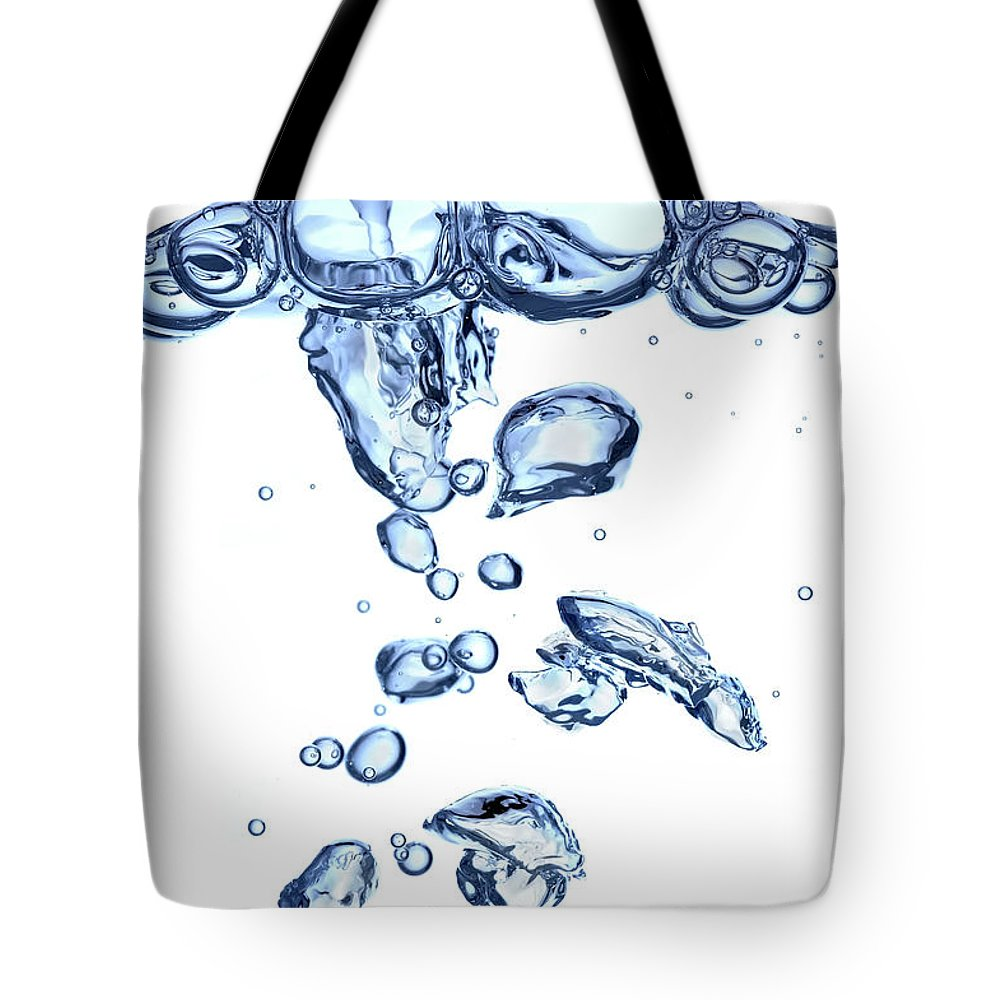 Underwater Tote Bag featuring the photograph Water Bubbles by Trout55