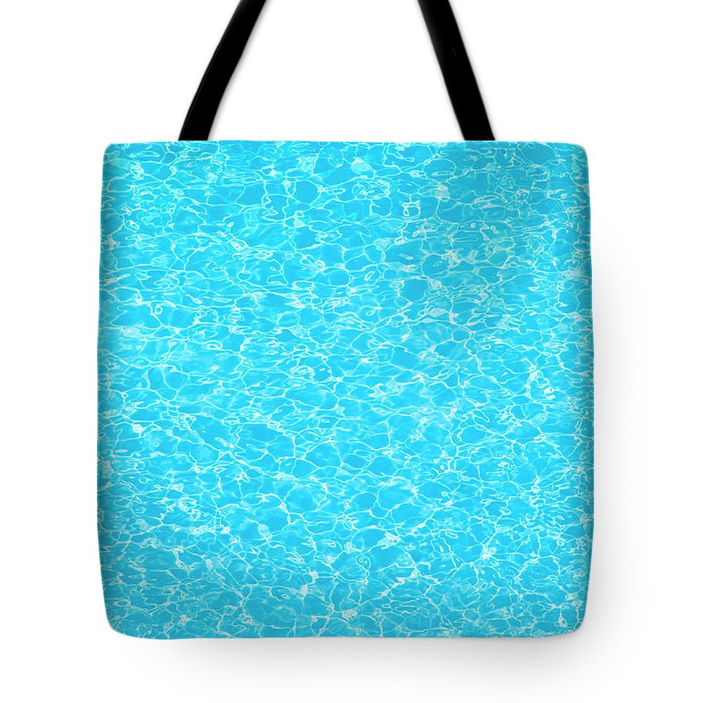 Cool Attitude Tote Bag featuring the photograph Water Wave Pattern Of Swimming Pool by Anddraw
