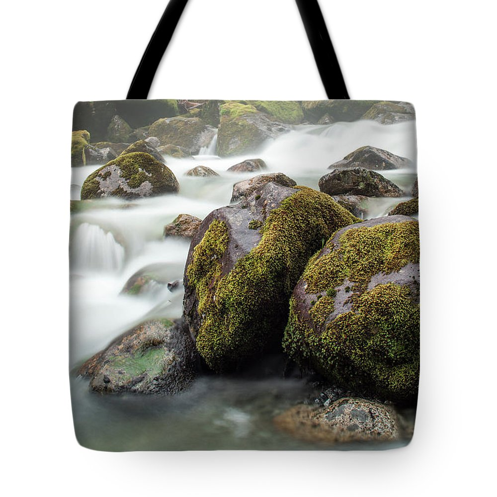 Tranquility Tote Bag featuring the photograph Waterfall, Bc, Canada by Paul Souders