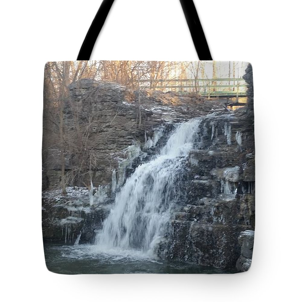 Waterfall Tote Bag featuring the photograph Waterfall by Seamus Pinder