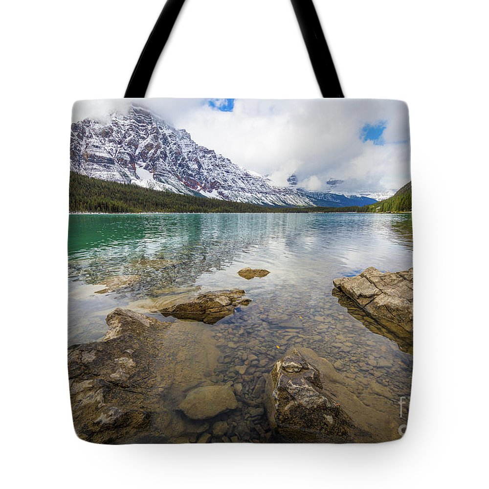 Alberta Tote Bag featuring the photograph Waterfowl Lake by Inge Johnsson