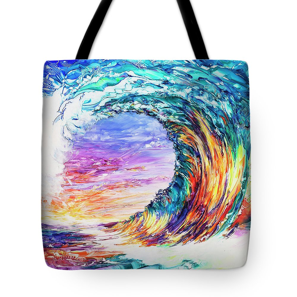 Hawaii Tote Bag featuring the painting Wave Of Promises by Susan Card