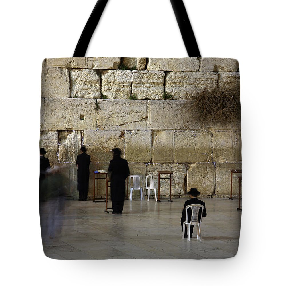West Bank Tote Bag featuring the photograph Western Wall by Simon Podgorsek