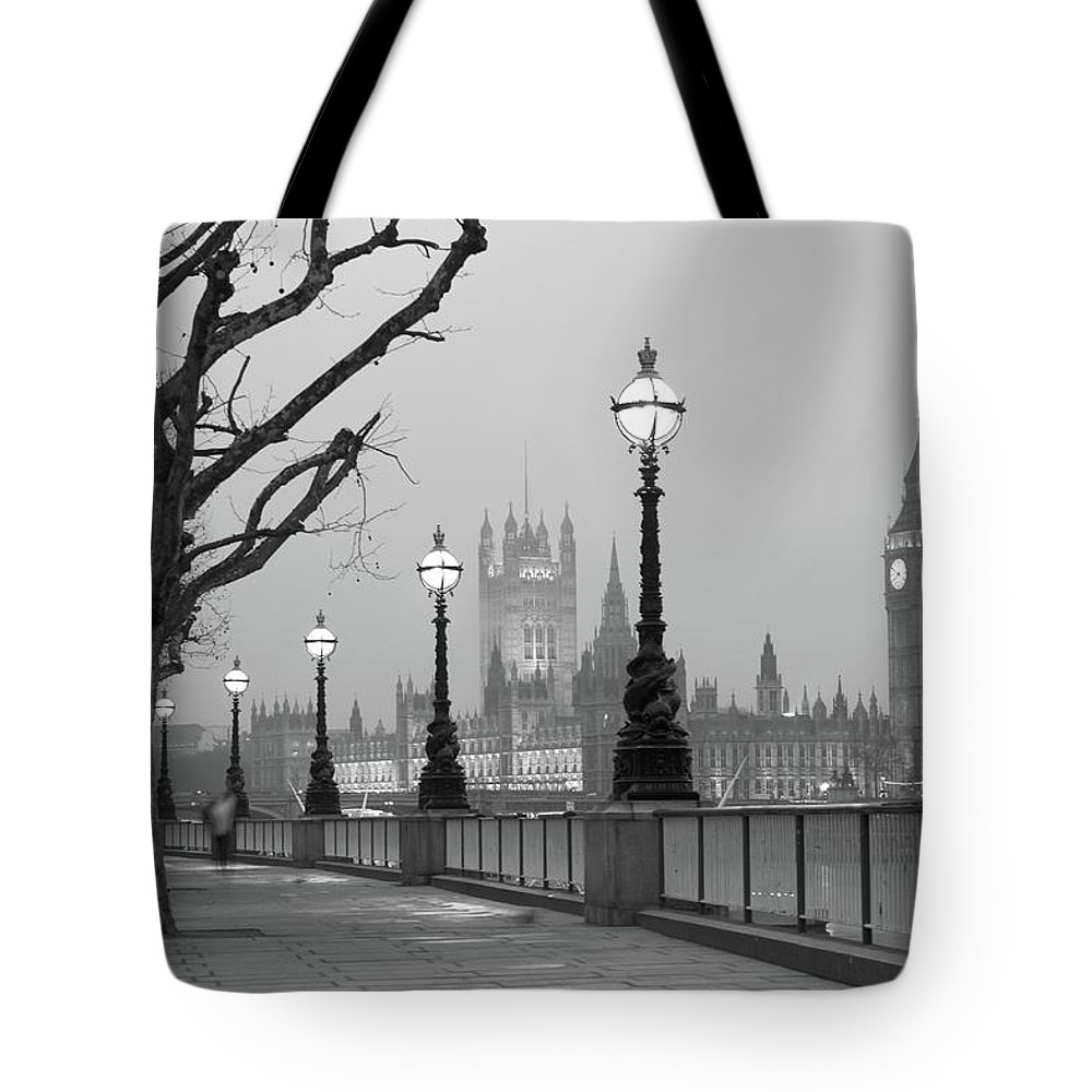 Scenics Tote Bag featuring the photograph Westminster At Dawn, London by Gp232