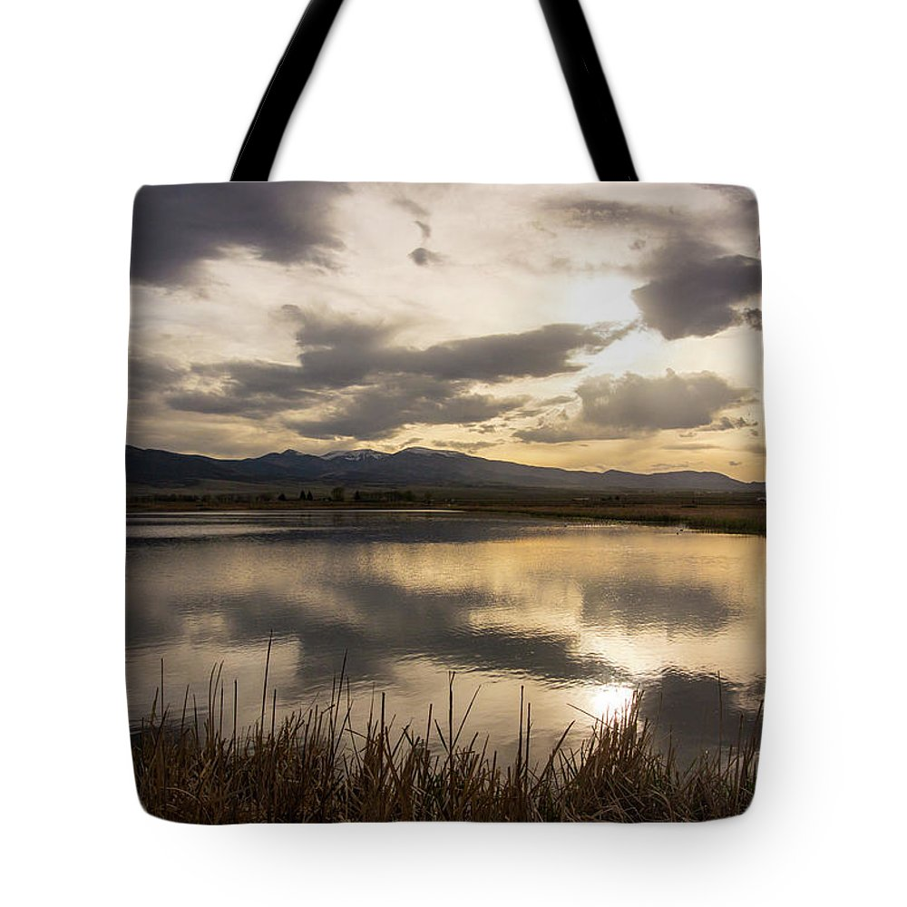 Sunset Tote Bag featuring the photograph Wetlands At Dusk by Jason Bohl