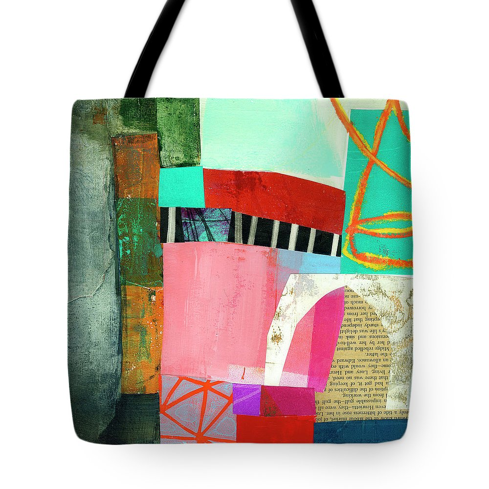 Abstract Art Tote Bag featuring the painting What Else? by Jane Davies