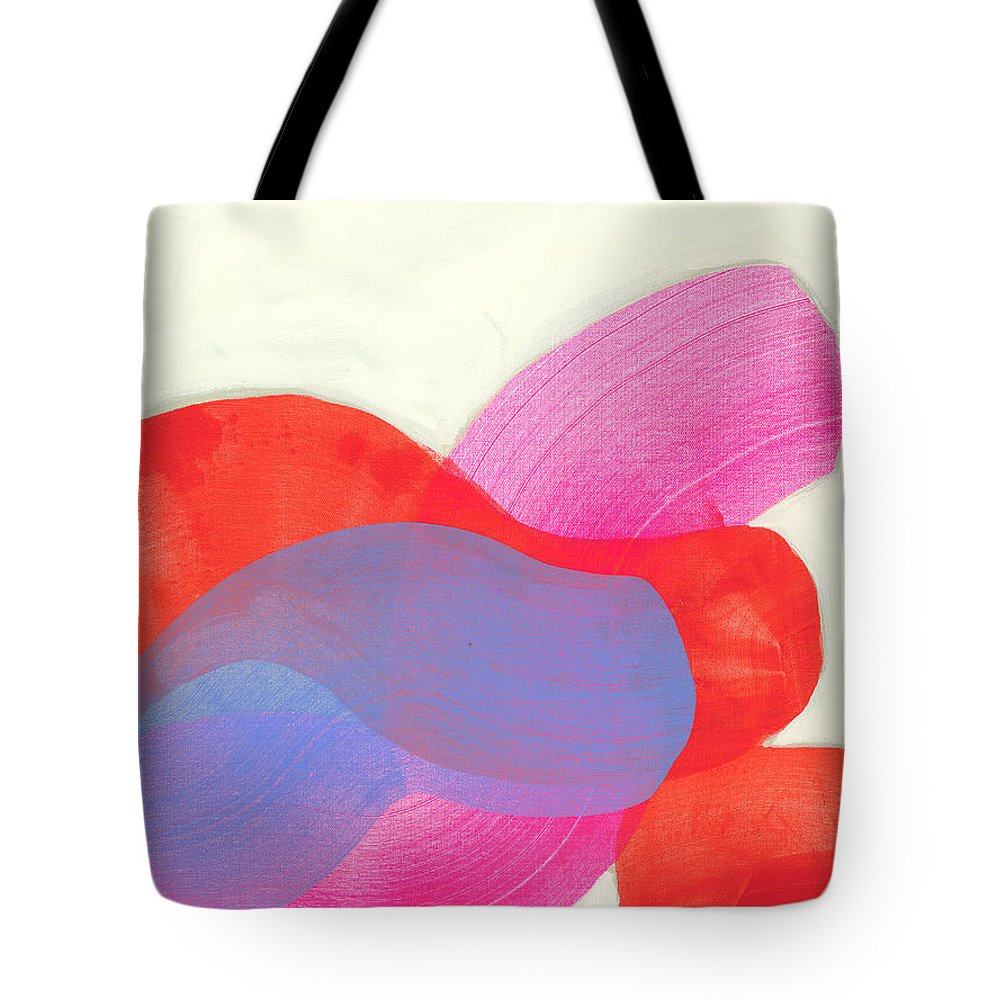Abstract Tote Bag featuring the painting What To Say? by Claire Desjardins