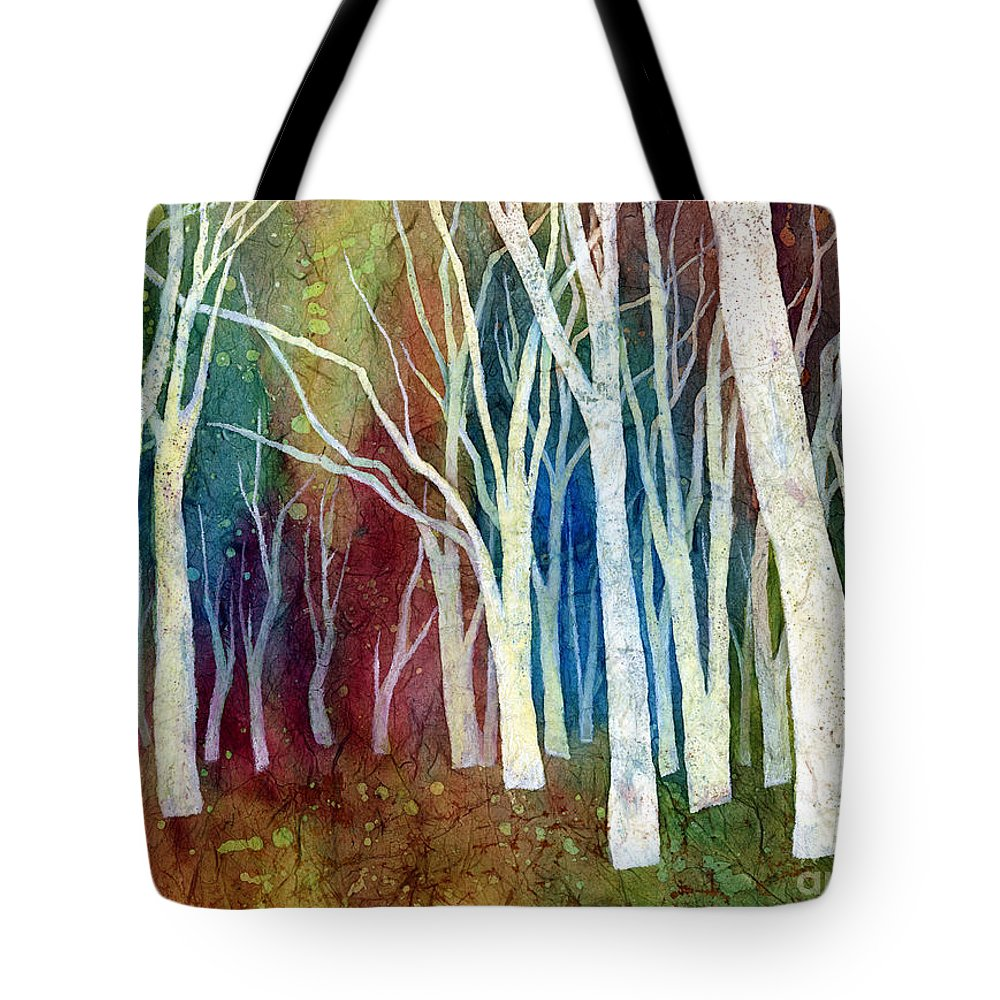 White Forest Tote Bag featuring the painting White Forest I by Hailey E Herrera