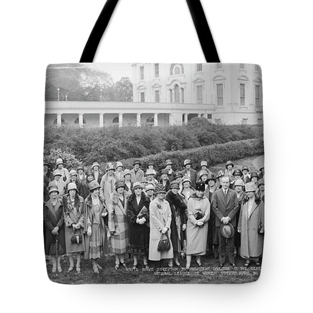 Photography Tote Bag featuring the photograph White House Reception By President by Fred Schutz Collection