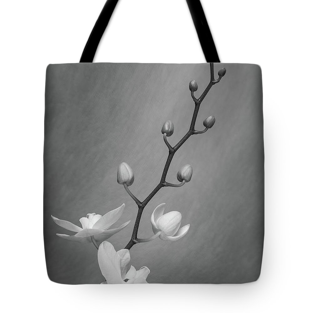Nature Tote Bag featuring the photograph White Orchid Buds by Tom Mc Nemar
