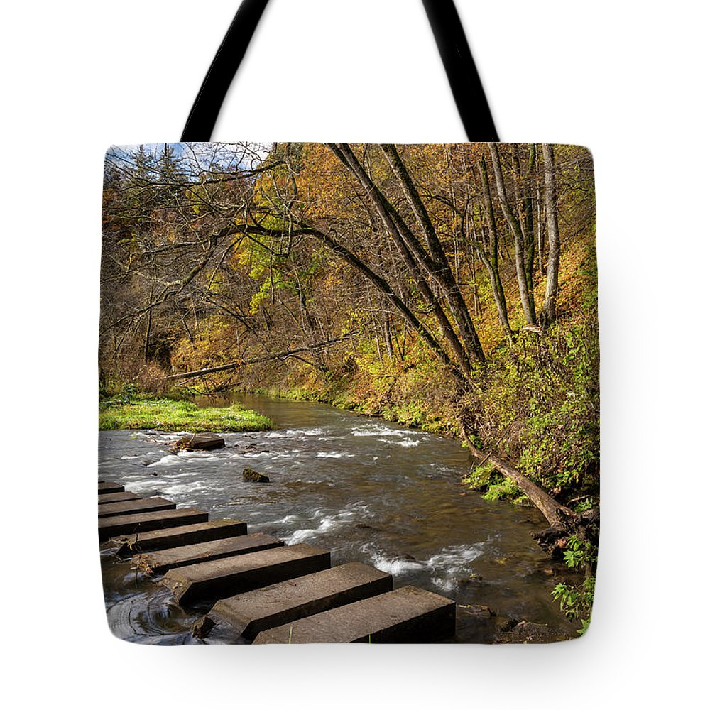 River Tote Bag featuring the photograph Whitewater River Scene 55 C by John Brueske