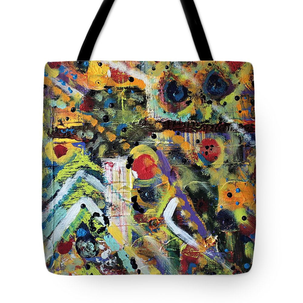 Nature Tote Bag featuring the painting Who What Where by Pam Roth O'Mara