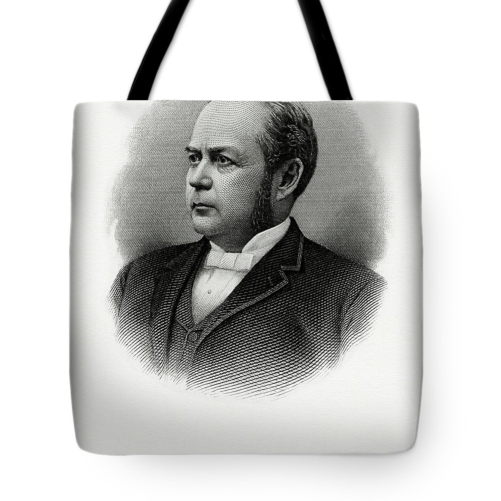 William Windom Tote Bag featuring the painting William Windom by The Bureau of Engraving and Printing