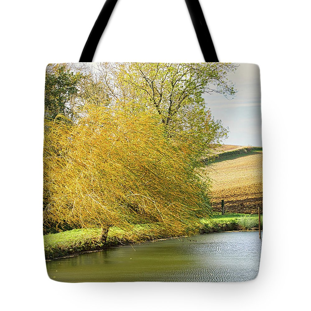Wind Tote Bag featuring the photograph Wind In The Willow by Michael Briley