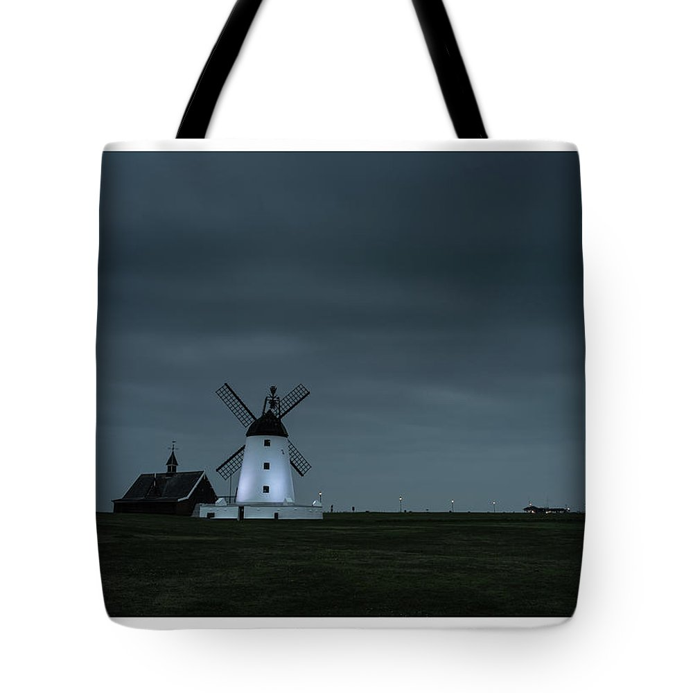 Lytham Tote Bag featuring the photograph Windmill by Mark Mc neill