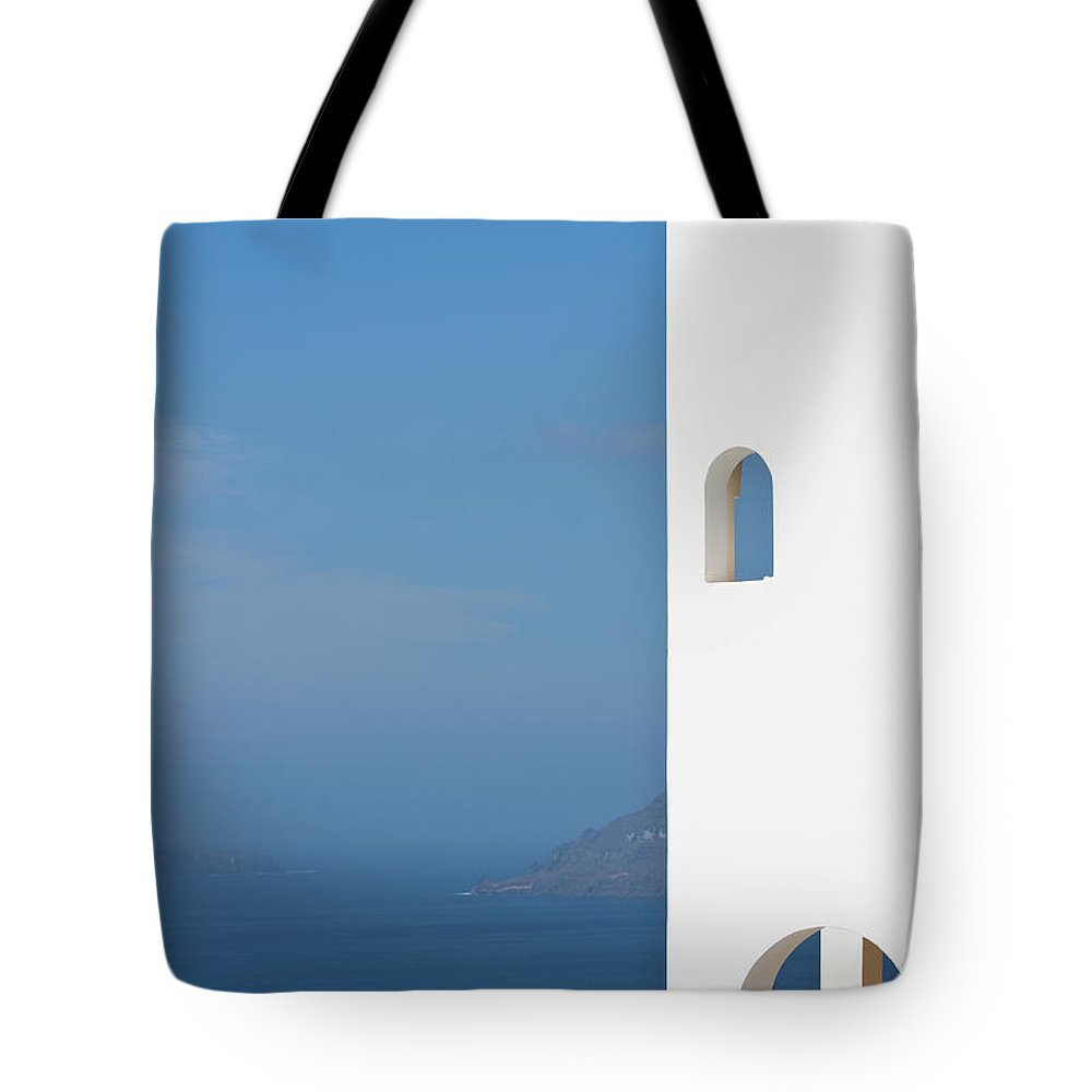 Greece Tote Bag featuring the photograph Windows To The Blue by Arturbo