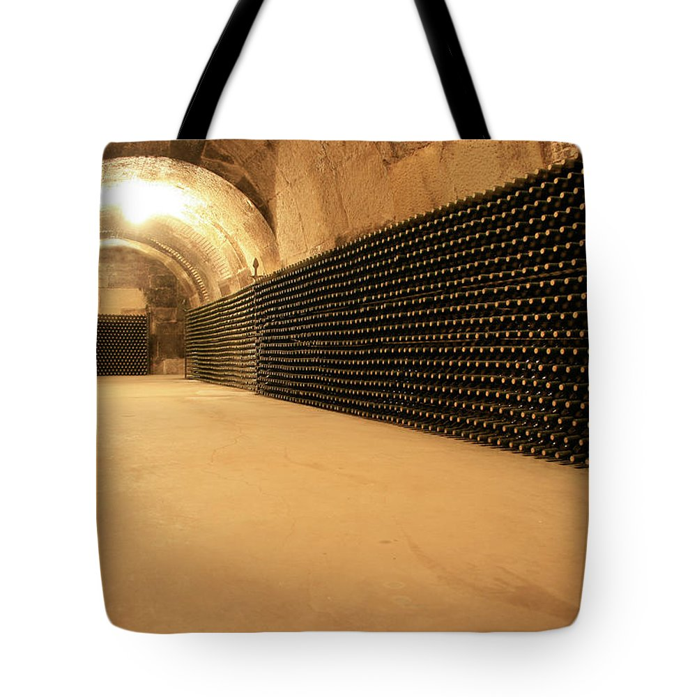 Arch Tote Bag featuring the photograph Wine Cellar by Manuelvelasco
