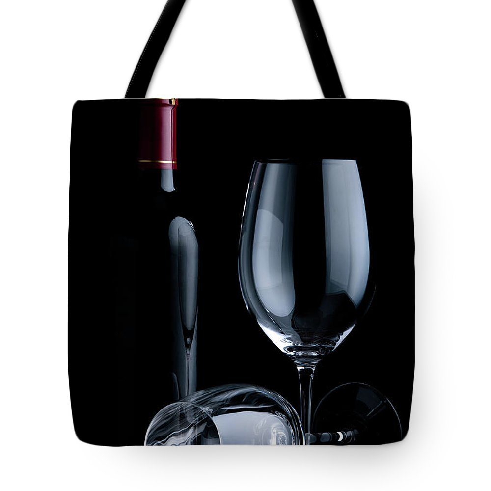 Shadow Tote Bag featuring the photograph Wine Glasses by Georghanf