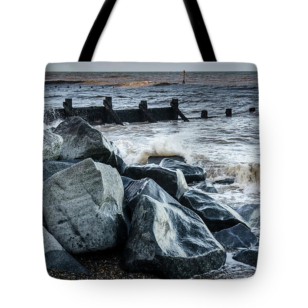 Norfolk Tote Bag featuring the photograph Winter By The Sea by Simon Pocklington