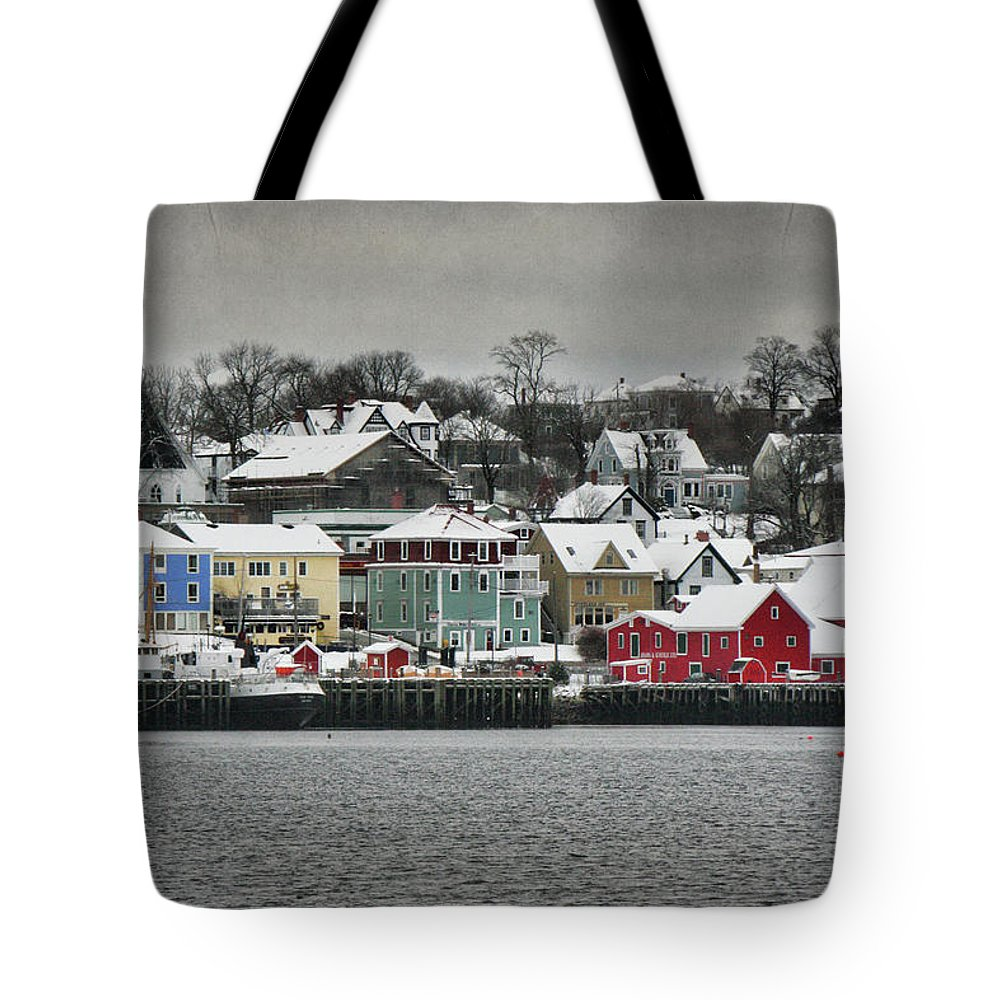 Snow Tote Bag featuring the photograph Winter In Lunenburg by Amanda White