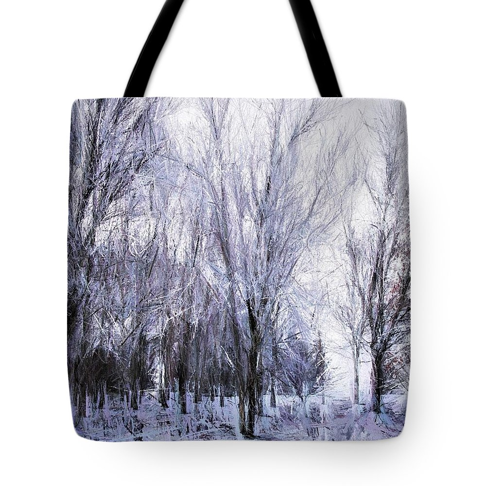 Winter Tote Bag featuring the painting Winter Lace by Diane Chandler