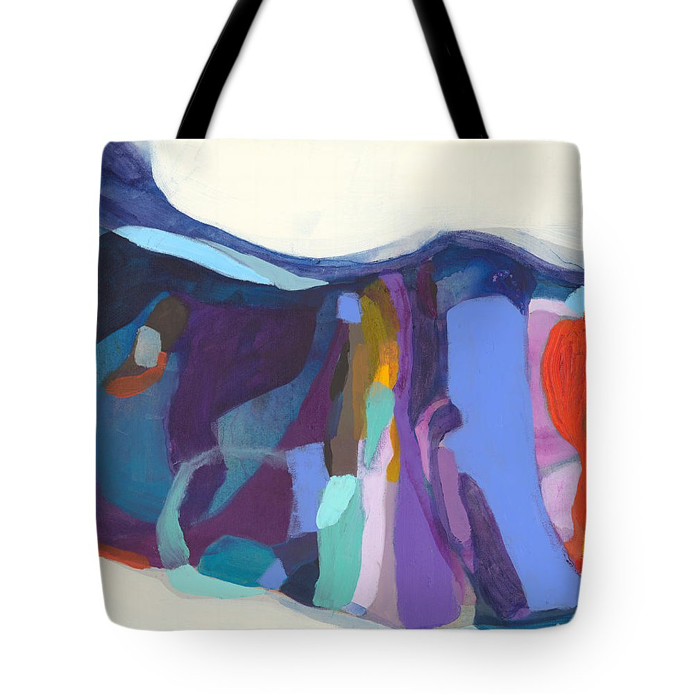 Abstract Tote Bag featuring the painting With Grace by Claire Desjardins