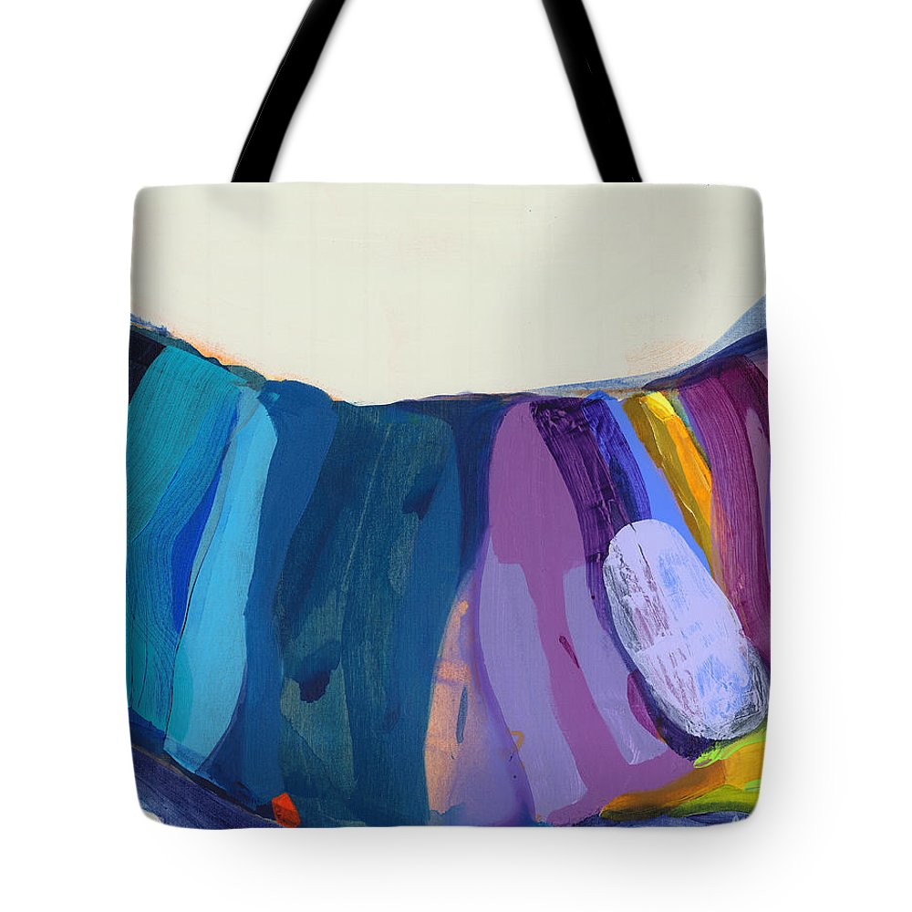 Abstract Tote Bag featuring the painting With Joy by Claire Desjardins