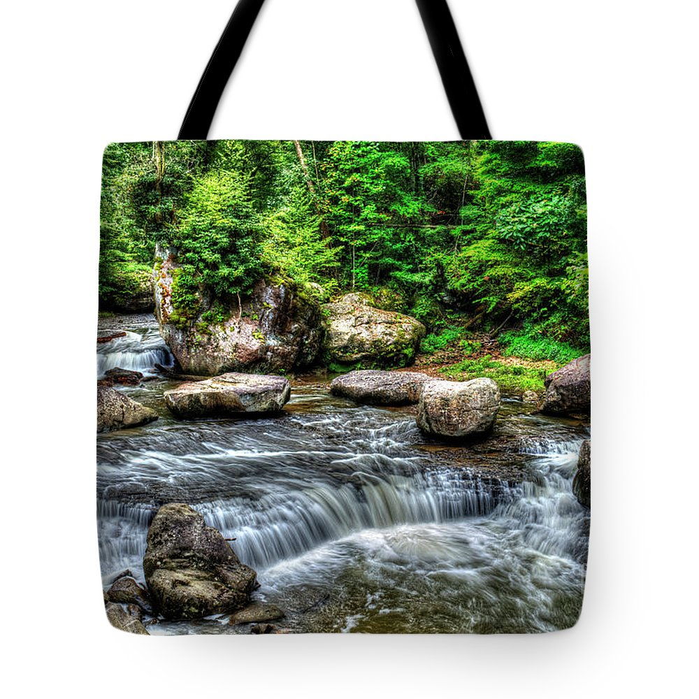 West Virginia Tote Bag featuring the photograph Wolf Creek Falls, New River Gorge, West Virginia by Greg Hager
